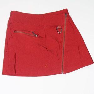 Dresses & Skirts - Red metal detailed mini skirt